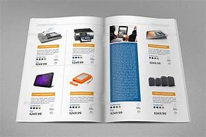 product brochure template With sales catalog template