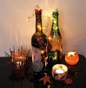 Flasche Mit Lichterkette : leuchtende flaschen erstellen kingkalli ~ Frokenaadalensverden.com Haus und Dekorationen