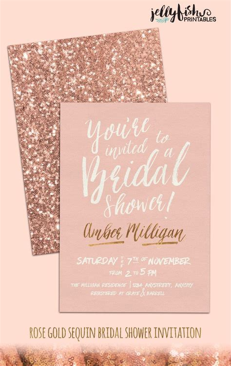 Glitter Bridal Shower Invitations by Gold Bridal Shower Invitation Customized For You