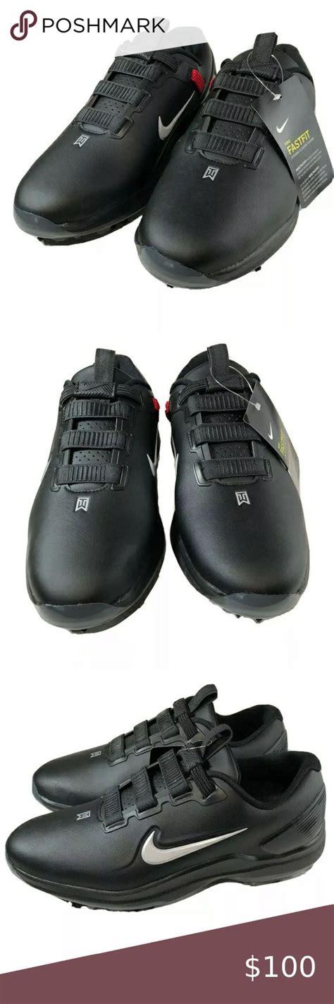 Nike Tiger Woods TW71 Golf Shoes Black   Black shoes, Golf ...