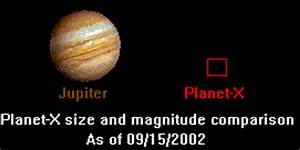 Planet X Compared to Earth - Pics about space