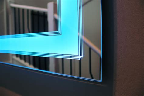 art deco lighted mirror unique  sofisticated