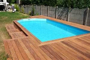 creer une terrasse en bois autour de ma piscine piscine With creer une terrasse en bois