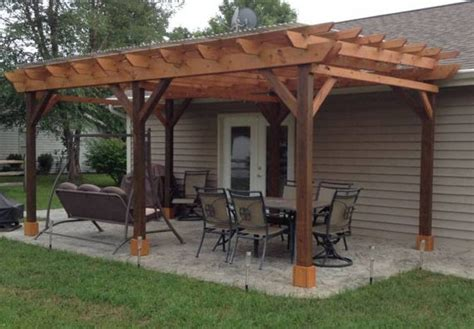 Patio Cover Roofing Material by Covered Pergola Plans 12x24 Outside Patio Wood Design