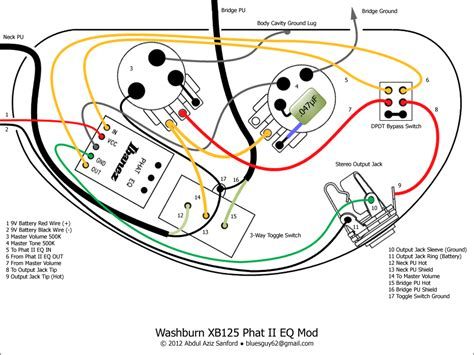 ca gear blog washburn xb wiring diagram