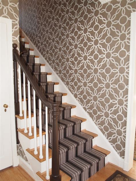 stair wallpaper home design ideas pictures remodel  decor