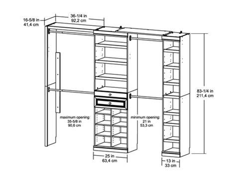 artistic standard closet bar depth roselawnlutheran