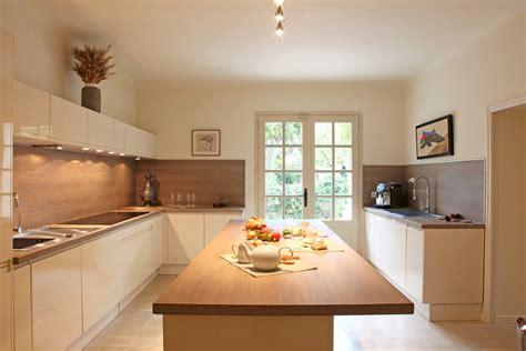 cuisine et cuisine moderne blanche et bois fashion designs