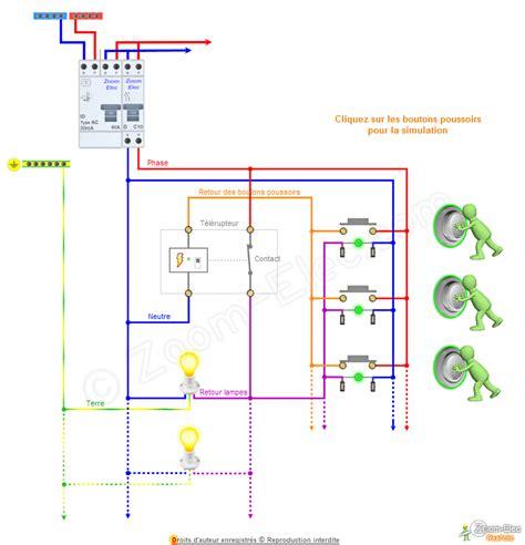 schema bouton poussoir sch 233 ma branchement bouton poussoir avec voyant t 233 moin lumineux
