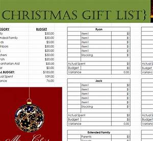 Template For Christmas Invitation Comprehensive Christmas Gift List My Excel Templates