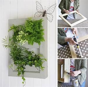 Créer Un Cadre Photo : fabriquer un cadre v g tal diy faites le vous m me avec mr bricolage ~ Melissatoandfro.com Idées de Décoration