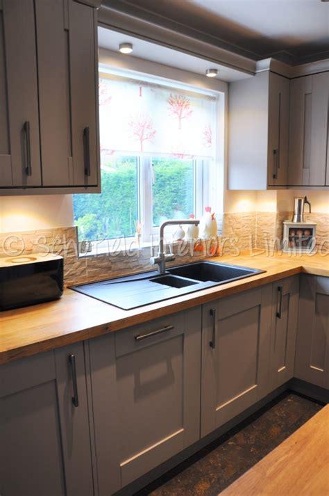 buckingham stone grey ash kitchen  solid oak