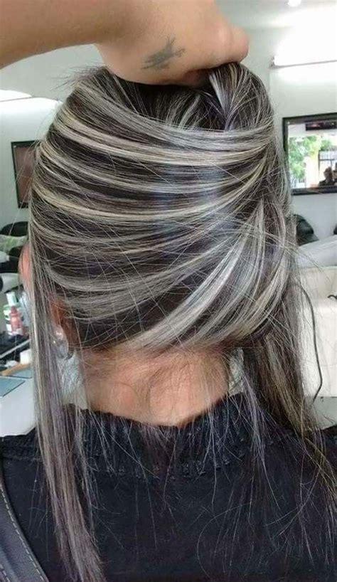 platinum white blonde silver balayage hair ideas