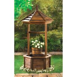 natural wood rustic wishing well planter eonshoppee