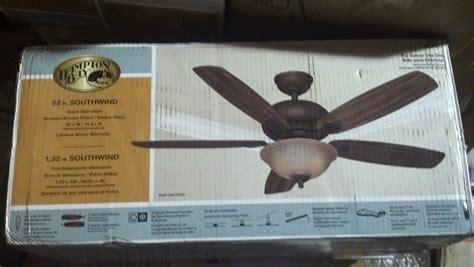 Hton Bay Southwind Ceiling Fan Manual by Hton Bay 52371 Southwind 52 In Venetian Bronze Ceiling