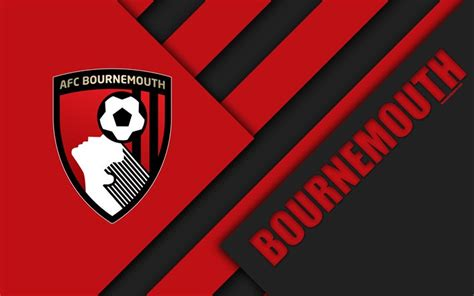 #nathan ake #afc bournemouth #bournemouth #english premier league #barclays premier league #premier league #epl #bpl #soccer #football. Download wallpapers Bournemouth AFC, logo, 4k, material design, black-and-red abstraction ...