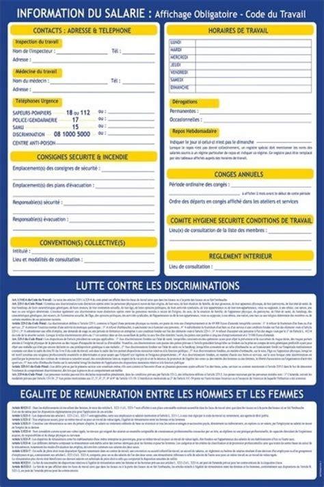 bureau de contr e obligatoire affichage obligatoire code du travail tabagisme