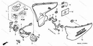 Honda Motorcycle 2005 Oem Parts Diagram For Side Cover