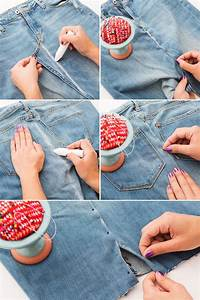 The Jeans Hack Girls Who Hate Pants Will Love | Sewing hacks Denim skirt and Diy clothes