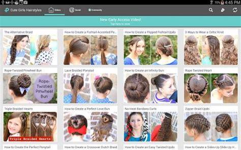 cute girls hairstyles apk   lifestyle app