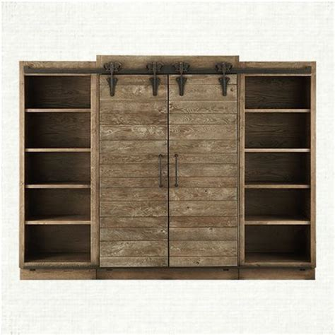 barn door media cabinet 22 best images about entertainment centers on pinterest