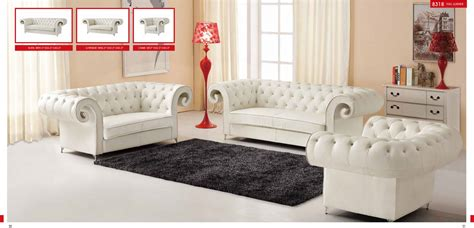 Esf 8318 Finest Genuine Italian Full Leather Sofa 3-pc Set