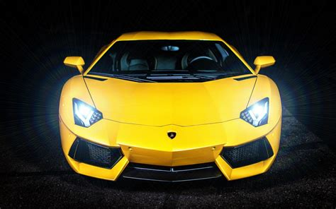 wallpaper lamborghini murcielago yellow dark background