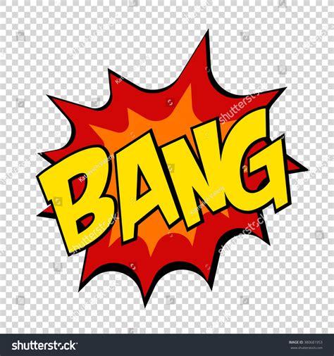 Bang Comics Icon Pop Art Speech Bubble Vector