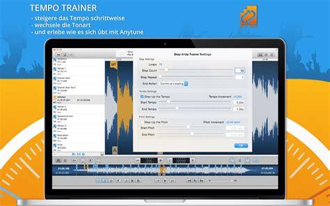 Anytune Ios & Mac App • Musik Langsamer Abspielen, Transponieren Und