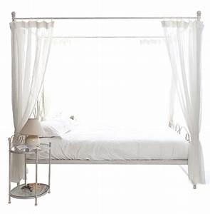 Lit Blanc Fille : lit a baldaquin fille maison design ~ Teatrodelosmanantiales.com Idées de Décoration