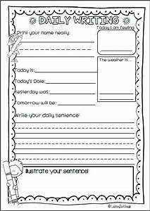Daily Writing For Kindergarten  Pre Primary  First Grade