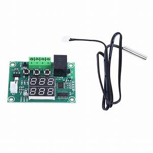 Dc 12v Dual Led Digital Display Thermostat Temperature