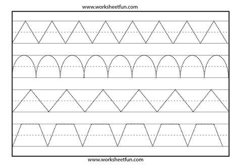 tracing  worksheet  printable worksheets