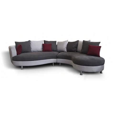 canape angle moderne canapé d 39 angle arrondi lind moderne achat vente canapé