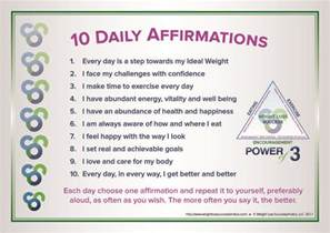 Positive Affirmations Weight Loss Quotes