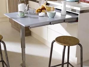 Meuble Avec Table Rabattable : meuble cuisine avec table rabattable table basse et pliante ~ Teatrodelosmanantiales.com Idées de Décoration