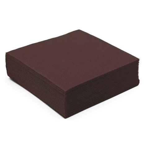 serviette de table en papier marron microgaufr 233