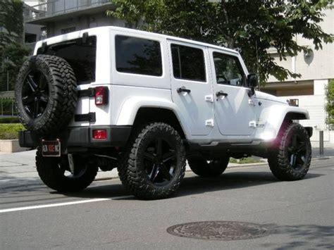 White Jeep Black Rims Too Cool 4x4 Pinterest