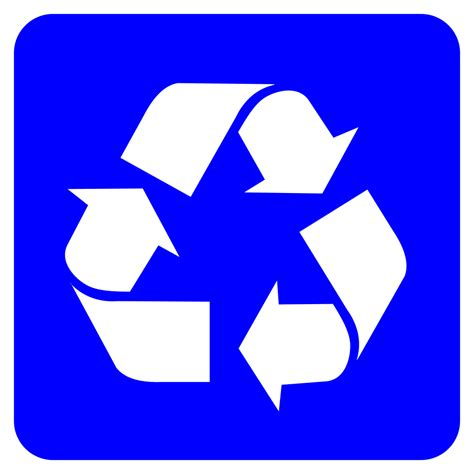 The Of Recycling by File Recycling Symbol White On Blue Svg Wikimedia Commons