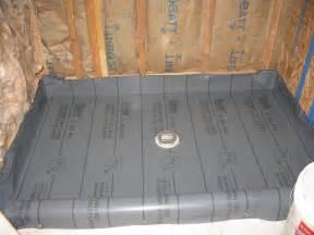 Shower Pan Liner Install Image
