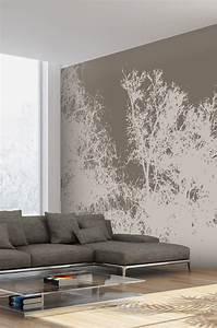 Papier Peint Arbre Noir Et Blanc : papier peint arbre e papier ~ Nature-et-papiers.com Idées de Décoration