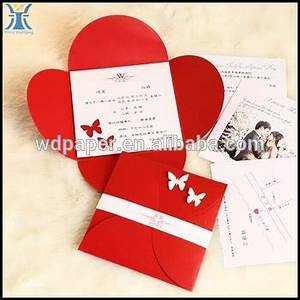 2017 yiwu latest fancy high quality red folding flower With cheap 3d wedding invitations