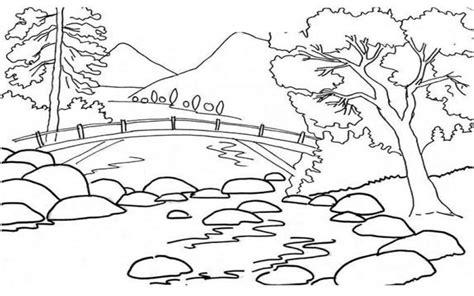 belajar mewarnai gambar pemandangan alam terlengkap