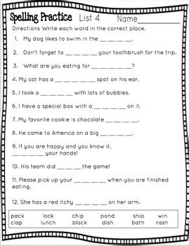 second grade saxon spelling worksheets by bown tpt