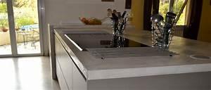 Béton Ciré Sur Plan De Travail : faire un plan de travail en b ton cir dans la cuisine d co cool ~ Nature-et-papiers.com Idées de Décoration