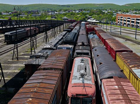 Scene at the Steamtown National Historic Site, a railroad ...
