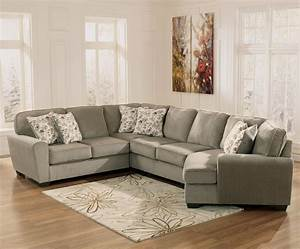 Ashley furniture patola park patina 4 piece small for Small sectional sofa with cuddler