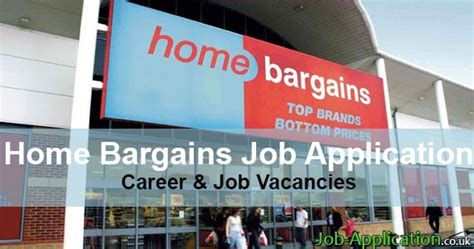 home bargains job application form  job application