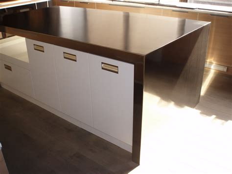 countertop for kitchen island stainless steel countertops custom