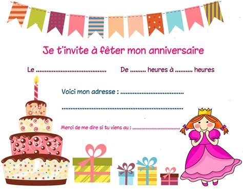 Carte Invitation Anniversaire Fille Carte Invitation Anniversaire Carte D Invitation Anniversaire Carte Anniversaire Carte